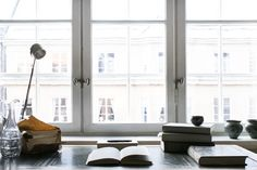 Rörstrandsgatan work space desk books window Stockholm Fantastic Frank