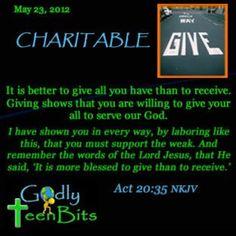 Better to give #devotional #Bible #God #Jesus #Godlyteenbits #christian