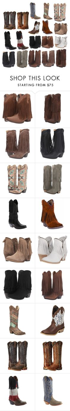 """""""Thems my dress up boots"""" by pistols-n-pearls ❤ liked on Polyvore featuring Roper, Laredo, Corral, Twisted X Boots, Dingo, Old West and Ariat"""