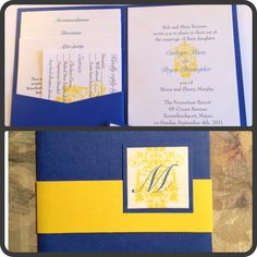 blue and yellow damask continued ...