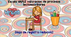 TEST Escala VAPLE valoración de procesos lectoescritores (Hoja de registro reducida)
