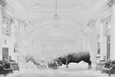 © Jean Bedez, De Ordine, Dessin à la mine de graphite, papier 224 g/m2 Encadrement bois blanc, Plexiglas 150 x 100 cm 195 x 145 cm encadré, 2015