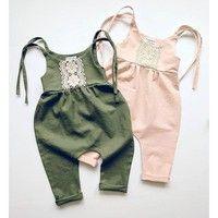 Wish | Baby Romper Sunsuit Onesie Boho Playsuit Toddler Girls Boys