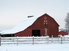 I love the big barns I see when driving down the country roads