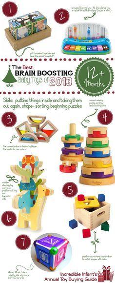 Best Developmental Toys for Babies over 12 Months ~ http://incredibleinfant.com