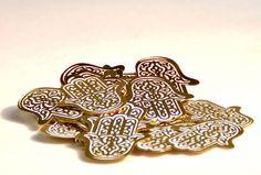 Confettis Main de Fatima, Or (sachet 50 pcs)