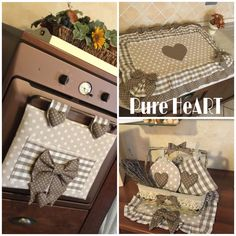 Pure HeART di Francesca Pugliese: Cucito creativo per la tua casa Decor Crafts, Home Crafts, Diy And Crafts, Home Decor, Shabby Home, Shabby Chic, Kitchen Chair Cushions, Kitchen Sets, Diy Projects To Try