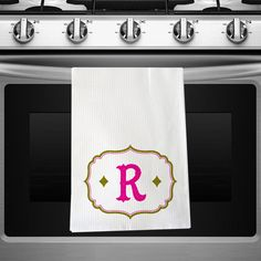 """#Psychobaby """"Chic Antique"""" #Kitchen Towel in Pink #housewares #personalized"""