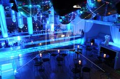 Club Interior. Blue Night.