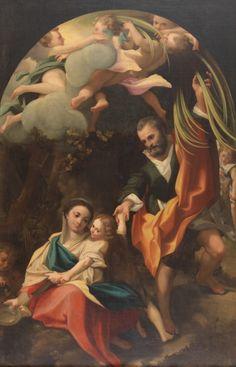 Descanso en la Huida a Egipto o La Virgen de la escudilla - Colección - Museo Nacional del Prado