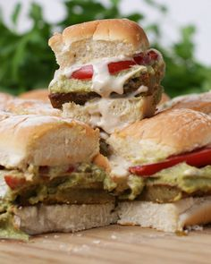 Falafel Sliders Recipe by Tasty - would use low carb bread/pita instead.