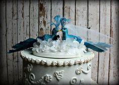 Peacocks Wedding Cake Topper