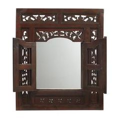 Ruji Mirror, Light Mahogany
