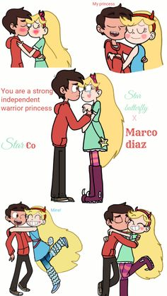 young love ~ Starco by LovefromJackie Starco Comic, Star Y Marco, Evil Art, Perfect Boyfriend, Disney Xd, Walt Disney Company, Arabic Love Quotes, Couple Relationship, Young Love