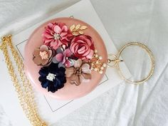 [Visit to Buy] BEARBERRY 2017 handmade flowers evening clutch bags brand mini round mini clutch wallets wedding dinner bags with chain Clutch Wallet, Clutch Bags, Tote Bag, Wedding Purse, Wedding Bags, Casual Bags, Handmade Flowers, Evening Bags, Purses And Bags