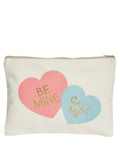'Candy Hearts' zip tote