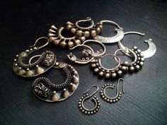 Miao jewelry and tribal earrings from Silk Road Tribal.