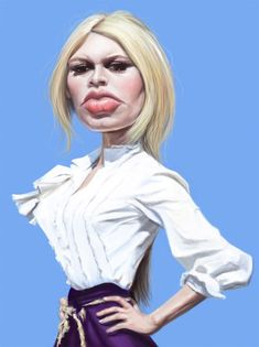 Caricatura de Brigitte Bardot