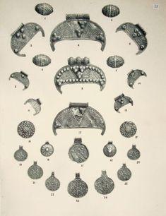 Bird Tribe Amulets, Barshcheuski treasure 1883 Goushchin AS, Monuments of artistic craftsmanship of ancient  Russia 10-13 centuries.