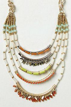 layered beaded necklace #anthro #jewelryinspiration
