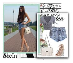 """Sheinside X-4"" by zijadaahmetovic ❤ liked on Polyvore featuring moda i Sheinside"