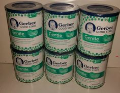 6 Cans Gerber Good Start Gentle for Supplementing Infant Formula w/iron 12.4oz…