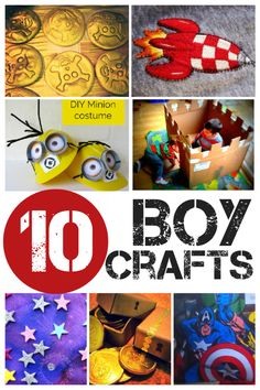 10 boy crafts - all the typical boyish things! (girls may love them too :) )