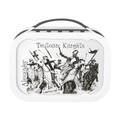 Shop Teutonic Knights in East Prussia, personalized Lunch Box created by edsimoneit. Knight Tattoo, Prussia, Middle Ages, Knights, Lunch Boxes, Germany, Crusaders, Kids, Wallpaper