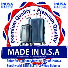 6/29. Win a 2-Piece Luggage Set!