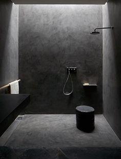 studio ko salle de bain beton