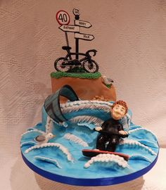 Kite surfing cake Novelty Cakes - Wedding, Birthday and all celebration cakes by Elizabeth Miles based in Shaftesbury Dorset