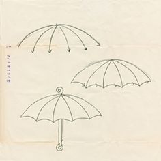 How to draw an umbrella, from Doodling in French by Anna Corba