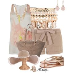 Neutral For Summer, created by anna-campos on Polyvore