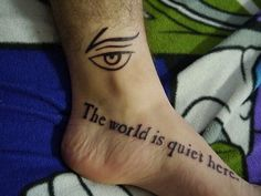 """""""The world is quiet here"""" The Austere Academy / VFD  literary tattoos vol. IV 