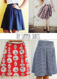 Summer Skirts to Sew Sewing Blogs, Easy Sewing Projects, Sewing Projects For Beginners, Sewing Hacks, Sewing Tips, Sewing Tutorials, Dress Tutorials, Skirt Patterns Sewing, Sewing Patterns Free