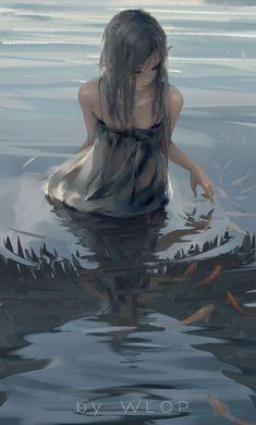 Fantasy Girl, 3d Fantasy, Anime Fantasy, Fantasy Artwork, Fantasy Princess, Elves Fantasy, Art Anime Fille, Anime Art Girl, Art And Illustration