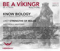 How to be a Víkingr (and a man). Rule #096: Know Biology #BeAVikingr