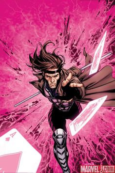 Gambit...  I suppose being a teenager and having a crush on a comic book character makes me a definite geek.