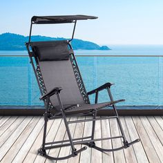 Zero Gravity Folding Rocker #Porch Rocking Chair