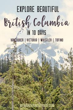 Get out and explore Beautiful British Columbia Canada. From the coastal rainforests to the summit of mountains to cities like and there is so much to discover in Here's everything you need to see in 10 days in British Columbia. Things to do Quebec, Vancouver British Columbia, Victoria British Columbia, Ontario, Europe Destinations, Alberta Canada, Canada Canada, Canada Trip, Banff