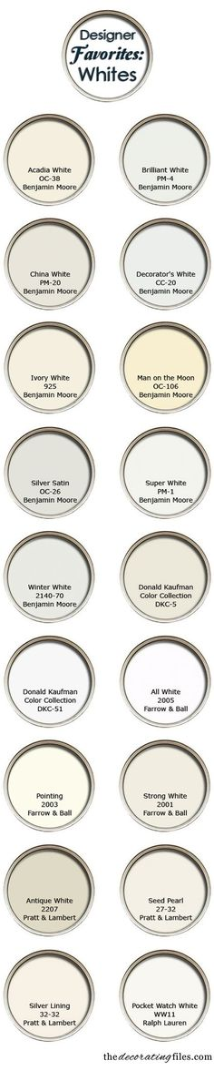 Decorator's favorite white paint colors - Dishmon Wood Products : Quality Hand Made Wooden Products Since 1975