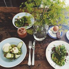 Favourite spot in Copenhagen Atelier September! Here I tried the most delicious courgette & mozzarella salad ever. And their iced coffee is fantastic too!