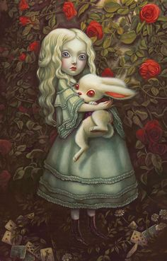 "Benjamin Lacombe ♠ ""Alice in Wonderland"" - Alice & White Rabbit Art Lewis Carroll, Alicia Wonderland, Adventures In Wonderland, Alice In Wonderland Artwork, White Rabbit Alice In Wonderland, Alice In Wonderland Illustrations, Go Ask Alice, Mark Ryden, Arte Obscura"