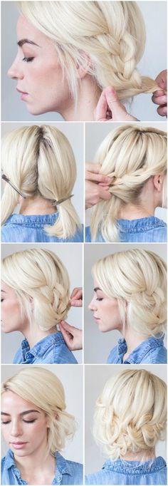 abendfrisuren-selber-machen-geflochte-kurze-haare-blond