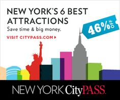 New York City Pass includes: Empire State Building, Natural History Museum/Cloisters, Met Museum, MoMA, Top of the Rock, Circle Line Cruises