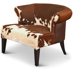 Arama Rustic Lodge Brown White Cowhide Wood Living Room Armchair (13,840 CNY) ❤ liked on Polyvore featuring home, furniture, chairs, accent chairs, wood arm chair, wood furniture, wood chair, wooden furniture and wooden chairs