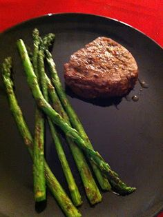 Flavorful Baked Beef Tenderloin with Sauteed Fresh Asparagus Recipe. Healthy, quick and easy! Read more about my weight loss blog for videos, recipes and much more!