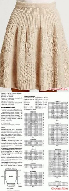 . A skirt with a relief pattern - Knitting - the Country of Mothers