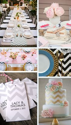 Chevron Wedding Inspiration ~ Chevron Wedding Ideas