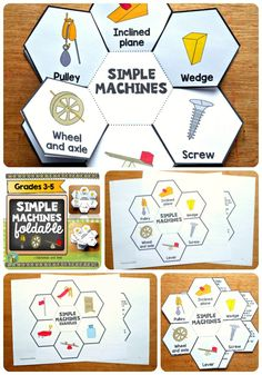 This foldable (petal book) will help your students identify 6 different simple machines that are used in our every day life to make work easier.  This resource may be used with students from grades 3-5. Whole group, small groups or individual instruction.This resource is adapted to address different learning styles.